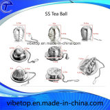 Pastel de chá de aço inoxidável em forma de bola com gancho de corrente