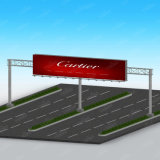 Il doppio esterno della strada principale ha parteggiato facendo pubblicità alla scheda del segno del tabellone per le affissioni