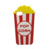 Coperchio del silicone del reticolo personalizzato popcorn 3D per il iPhone 7