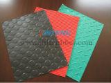 Пошущенный над штраф, тонкая Ribbed резиновый циновка зеленых/серых/красных/черноты