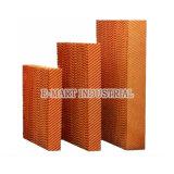 Garniture industrielle de refroidissement par évaporation de système de ventilation d'application