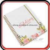 Zoll gedruckter Ausgabe-Spirale-Hochzeits-Planer mit Index u. Teiler