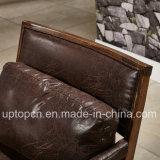 余暇のArmrest (SP-EC849)が付いている焦茶の木のレストランの家具の椅子
