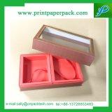 La caja de regalo hermosa caja de papel cartón rígido de color blanco con cinta