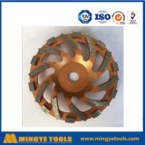 Золотистое колесо чашки диаманта для меля камня/мрамора