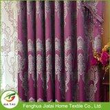 100% Polyester Purple Custom Valance Cortinas para Venda