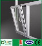Het Venster van de Draai van de Schuine stand van het Profiel van het Aluminium van het Bouwmateriaal met Aangemaakt Glas