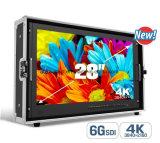 28 '' resolución de la visualización de 6g-Sdi 4k para el monitor de la pantalla del cine