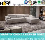 Sofá de couro de canto de sala de estar de design moderno mais novo (HC2062)