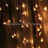 爆竹LED星明かりのストリングライト電池式の36FT銅線120 LEDsライトは白を暖める