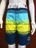 Shorts da praia do Swimwear do Beachwear do desgaste dos esportes da tira para o homem/mulheres