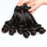 O cabelo 100% humano brasileiro da extensão do cabelo de Remy do Virgin afrouxa a onda