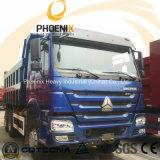 低価格Afircaのための10の車輪との使用されたHOWOのダンプトラックのダンプカー30tons 6X4