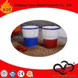 Taza del agua del vaso del regalo del esmalte sin la maneta