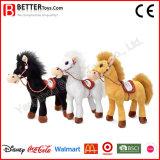 De nieuwe Ontwerp Gevulde Dierlijke Zachte Pluche van het Paard van de Status van het Stuk speelgoed voor de Jonge geitjes van de Baby