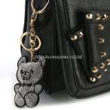 Corrente chave do encanto do saco do Keyring do carro de Keychain do urso do encanto da bolsa da forma