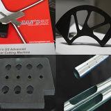 Tube en métal de commande numérique par ordinateur d'approvisionnement/prix carré de machine de découpage de laser de fibre de pipe
