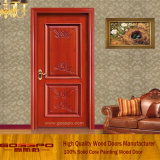 Porta interior de madeira do quarto da noz contínua feita sob encomenda (GSP2-074)