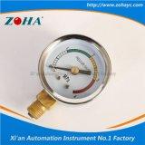 Mini instrument radial de pression avec le cadran de quatre couleurs
