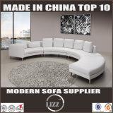 現代柔らかい高い等級の革ソファーの居間の家具のソファー