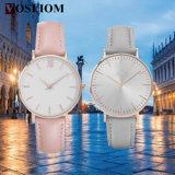 YXL-582 2016 Hotsales simples niñas la moda del reloj de la cara en blanco de encargo relojes de señoras con PVD de oro rosa