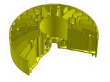 Прессформа заливки формы Al для теплоотвода
