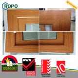 UPVC schiebendes Fenster-Doppelverglasung-hölzerne Farben-Plastikrahmen-Fenster