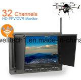 7 Zoll drahtloses Mini-DVR, Kanal 32 für Bodenstation