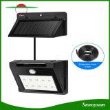 Solarlampen-Innen-/im Freien 10 LED-Bewegungs-Fühler-Sicherheits-Wand-Licht mit besonders langen Extensions-Netzkabeln