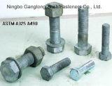 Moitié chaude de boulons Hex lourds filetés de la vente ASTM A490
