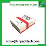 Zoll-Ordnung Qualitäts-rote Papiergeschenk-Fessel-verpackeninstallations-Kasten