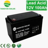 12V 100ahの深いサイクルの太陽街灯電池
