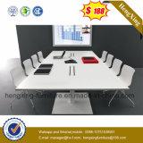Table de conférence de réunion de bureau de rectangle de mélamine en noyer de grande taille moderne (HX-5N113)