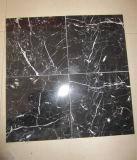 Il nero bianco di marmo nero Marquina della vena