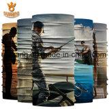 prix d'usine Logo personnalisé imprimé Accessoires de cheveux au bandana de pêche de la mode