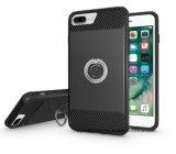 2017 el caso del teléfono móvil de los accesorios para el iPhone 7plus Contraportada Armor golpes caso para el iPhone 7 Plus con hebilla de anillo de 360