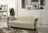 Soffione europeo Chesterfield in pelle moderna