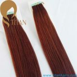 30# 고동색 색깔 인간적인 Virgin 머리 테이프 머리 연장
