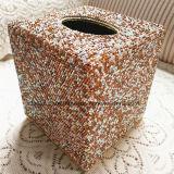 Alquiler de plaza de la Casa de Diamantes de cristal Contenedor de cuadro de tejido de toalla toalla Estrás tejido Titular (TB-Square 017)