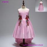 5 день рождения платья девушки цветка платья ребёнков цветка венчания девушки Носить Партию Вуаль платья девушок цветов горячих дешевых Princess Ребенк