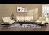 現代デザイン居間の白革のソファー(UL-NSC276)