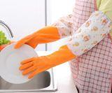 Нитрил полиэфира покрыл внутренности мытья безопасности работы работы кожи PVC латекса перчатки резиновый теплой шерстяные чистые