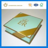 Rectángulo de regalo decorativo impreso Matt de lujo de calidad superior del chocolate de oro de la hoja (caja de embalaje del chocolate)