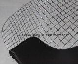 Metal comedor Kd Negro Asiento silla Diamante alambre cojín PU
