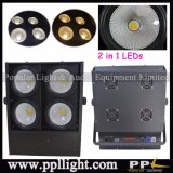 4PCS * 100W는 백색을 + 찬 백색 2in1 옥수수 속 LED 경청자 곁눈 가리개 빛 데운다