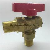 Латунный цвет, высокотемпературный упорный трехходовой клапан