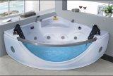 BALNEARIO de la esquina de la bañera del masaje de 1600m m con el vidrio grande de la fuente para la persona 2 (AT-9810)