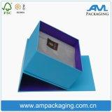 Rígida de cartón sellado cinta impresa Embalaje de regalo de lujo del rectángulo con bisagras de cierre imán