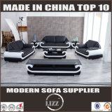 Wohnzimmer-echtes Leder-Sofa mit Kaffeetische