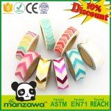 Multifunción de alta calidad a 10 metros de largo escribible Colorido papel de arroz japonés flecha imprimir el patrón de un surtido de Washi Tape